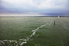 Ijsselmeer lake before a storm Royalty Free Stock Images