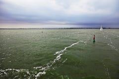 Ijsselmeer lake before a storm Royalty Free Stock Images
