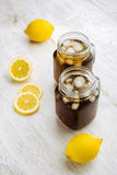 Ijsthee en citroenen Stock Afbeelding
