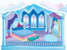 Ijszaal van de Sneeuwkoningin vector illustratie