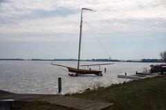 IJszeilboot Braassem stock photos