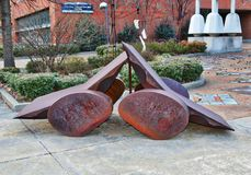 Ijzer Art Exhibit At The University van Memphis royalty-vrije stock foto