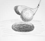 Ijzer dat golfbal in motie raakt Stock Afbeeldingen