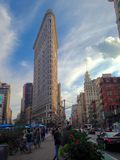Ijzer die de stad van New York, Manhattan bouwen Stock Foto