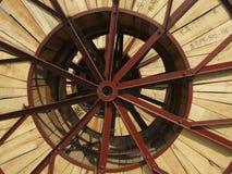 Ijzer en houten combinatiepatronen en texturen Royalty-vrije Stock Foto