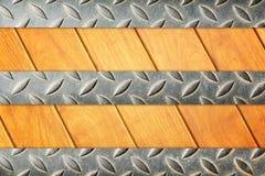 Ijzer en houten vloer Stock Afbeeldingen