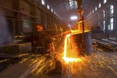 Ijzer- en staalindustrie Stock Afbeeldingen