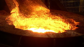 Ijzer, staaluitsmelting Stock Foto