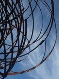 Ijzerbeeldhouwwerk Stock Afbeeldingen