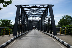 Ijzerbrug in Chiang Mai Stock Foto's