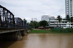 Ijzerbrug in Chiang Mai Stock Afbeelding