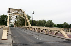 Ijzerbrug in Gyor, Hongarije royalty-vrije stock foto
