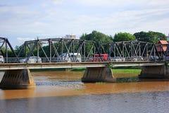 Ijzerbrug over Ping rivier Royalty-vrije Stock Foto's