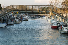 Ijzerbrug over Rivier Stock Foto's