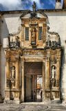 Ijzerdeur van de Universiteit van Coimbra Stock Afbeeldingen