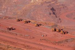 Ijzerertsmijnbouw Royalty-vrije Stock Foto's