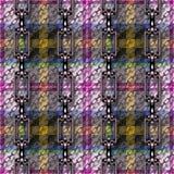 Ijzerkettingen met geruit Schots wollen stof naadloze textuur vector illustratie