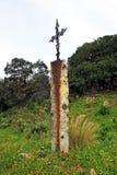 Ijzerkruis in Mozarabic Camino DE Santiago, Cerro Muriano, Bergen van Cordoba, Spanje Royalty-vrije Stock Afbeeldingen