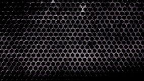 Ijzerplaat met regelmatige kleine gatentextuur stock afbeelding