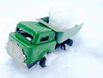 Ijzerstuk speelgoed vrachtwagen Stock Foto