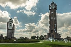 Ijzertoren和PAX土窖在迪克斯梅德,比利时 图库摄影
