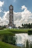 Ijzertoren in Diksmuide, België stock foto's