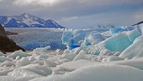 Ijzig berglandschap in Patagonië royalty-vrije stock foto
