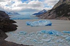 Ijzig berglandschap in Patagonië royalty-vrije stock fotografie