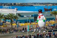 Ijzig de sneeuwman Stock Foto