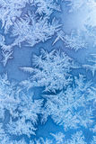 Ijzig de winterpatroon Stock Foto's