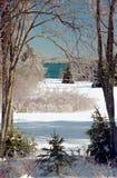 Ijzig de wintersprookjesland stock afbeeldingen
