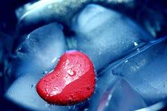 Ijzig hart Stock Fotografie