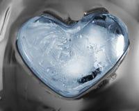 Ijzig hart Stock Afbeeldingen