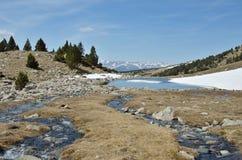 Ijzig landschap van de vallei madriu-Perafita-Claror stock foto's