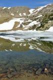 Ijzig meer in de vallei madriu-Perafita-Claror Royalty-vrije Stock Foto's