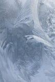 Ijzig natuurlijk patroon op de wintervenster Royalty-vrije Stock Foto