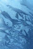 Ijzig patroon bij venster Royalty-vrije Stock Afbeelding