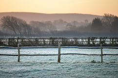 Ijzig platteland stock fotografie