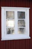 Ijzig venster Stock Foto's