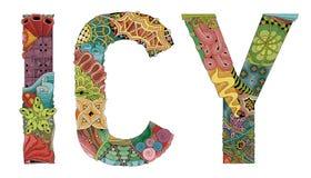 IJZIG Word Vector decoratief zentanglevoorwerp voor decoratie royalty-vrije illustratie