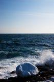Ijzige Atlantische kust royalty-vrije stock fotografie