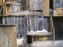 Ijzige fontein Royalty-vrije Stock Afbeeldingen
