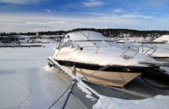 Ijzige motorboot royalty-vrije stock foto's