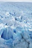 Ijzige Oppervlakte van een Gletsjer Royalty-vrije Stock Afbeelding