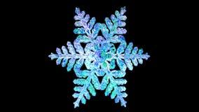 Ijzige Sneeuwvlokillustratie op Zwarte royalty-vrije stock afbeeldingen