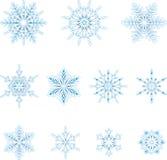 Ijzige sneeuwvlokken Royalty-vrije Stock Afbeeldingen