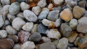 Ijzige stenen Stock Afbeelding