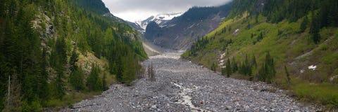 Ijzige vallei, Mt. Regenachtiger royalty-vrije stock foto