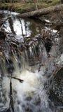 Ijzige waterval stock afbeeldingen