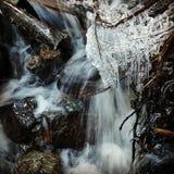 Ijzige waterval stock afbeelding